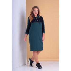 TENSI 296 Платье (тёмно-бирюзовый)