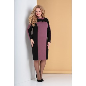 TENSI 301 Платье (черный+ пепельно-розовый)