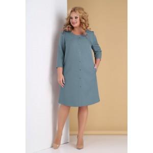 TENSI 311 Платье (серо-голубой)