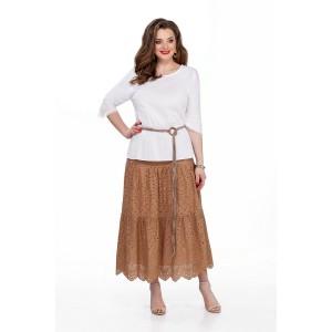 TEZA 184 Комплект юбочный (белый/коричневый)