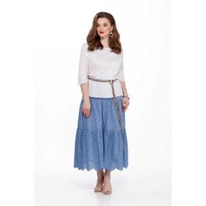 TEZA 184 Комплект юбочный (белый/голубой)