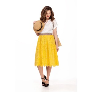 TEZA 185 Платье (белый/желтый)