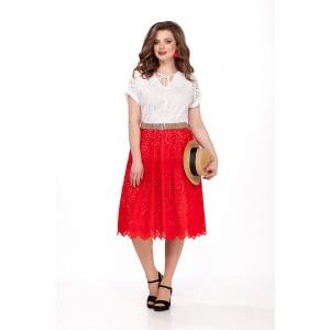 TEZA 185 Платье (белый/красный)