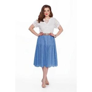 TEZA 185 Платье (белый/голубой)