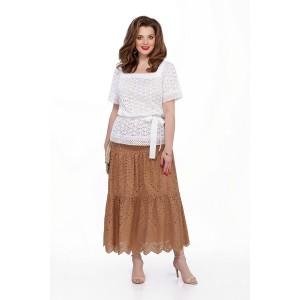 TEZA 206 Комплект юбочный (белый/коричневый)
