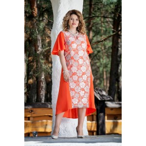 TEZA 211 Платье (оранжевый)
