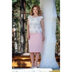 TEZA 225 Комплект юбочный (белый/розовый)