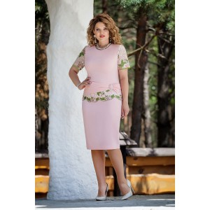 TEZA 229 Платье (нежно-розовый)