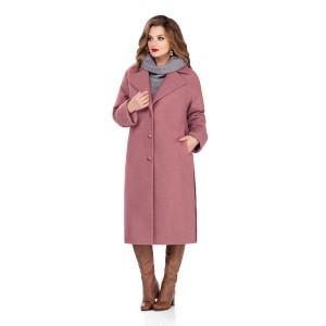 TEZA 246 Пальто (грязно-розовый)