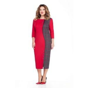 TEZA 253 Платье (красный/серый)