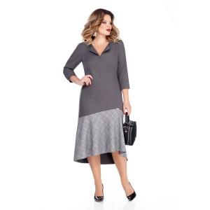 TEZA 254 Платье (серый/клетка)