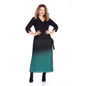 TEZA 256 Платье (черный/изумруд)
