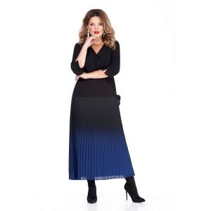 TEZA 256 Платье (черный/синий)