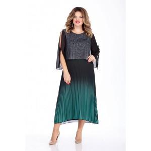 TEZA 260 Платье (черный/изумруд)