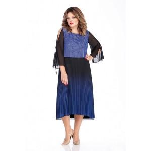TEZA 260 Платье (черный/синий)