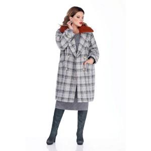 TEZA 264 Пальто (рыжий_воротник)