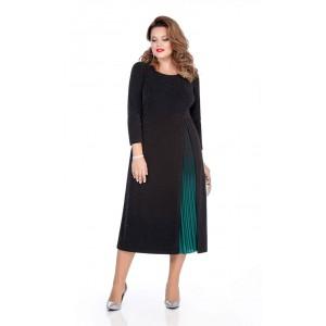 TEZA 271 Платье (черный/зеленый)