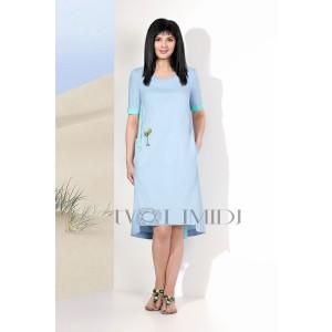 TVOJ IMIDZH 9117 Платье  (голубой)