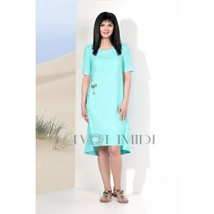 TVOJ IMIDZH 9117 Платье  (бирюза)