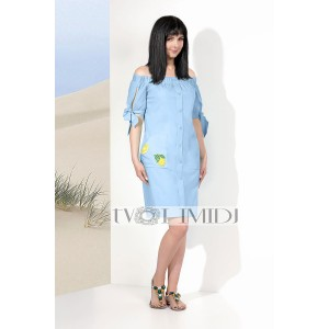 TVOJ IMIDZH 9119 Платье  (голубой)