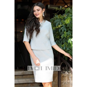 TVOJ IMIDZH 9813 Комплект юбочный (серый)