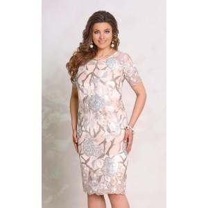 345383d8979 VITTORIA QUEEN 8183-1 Платье (бежевый + золото)