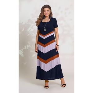 d73abd308b7 VITTORIA QUEEN 8513-1 Платье (сине-кирпично-сиреневый)