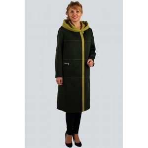 ZLATA 4109 Пальто оливковый