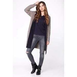 My fashion house 3308 Пальто серый/джинс