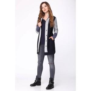 My fashion house 3323 Пальто синий/серый