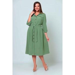 ASOLIYA  2539-1 оливка Платье