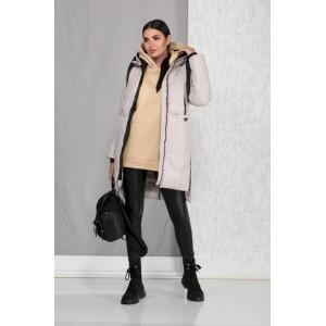 BEAUTIFUL-FREE 4003 -1 светло-серый (слоновая кость) Пальто