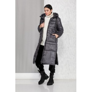 BEAUTIFUL-FREE 4013 серый Пальто