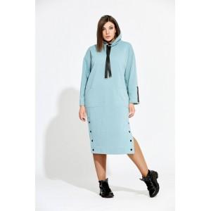 BEGIMODA 1003 бирюзовый Платье
