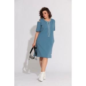BEGIMODA 1005 синий Платье