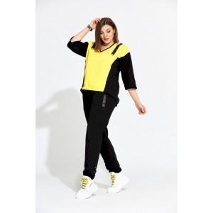 BEGIMODA 3005 лимонно-черный Спортивный костюм