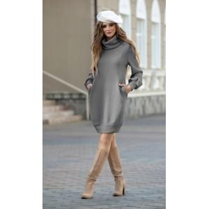 DIVA 1178-2 серый Платье