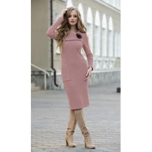 DIVA 1185-1 розовый Платье