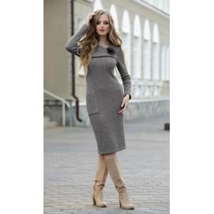 DIVA 1185-2 серый Платье