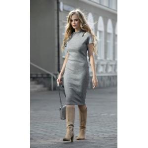DIVA 1186-1 серый Платье