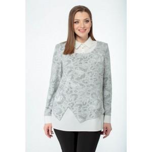 ELITEMODA 5087 серый Блуза
