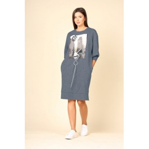 FAUFILURE С1133 синий Платье