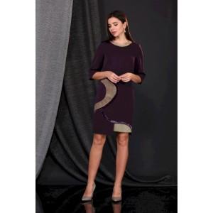 FAUFILURE С475 темно-фиолетовый Платье
