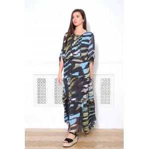 FAUFILURE С859 черный/голубой Платье