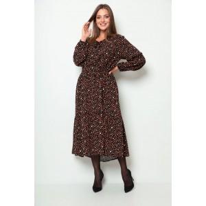 MICHEL-CHIC 2061 черно-коричневый Платье