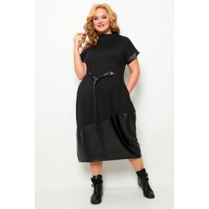 MICHEL-CHIC 2066 черный-кожа Платье