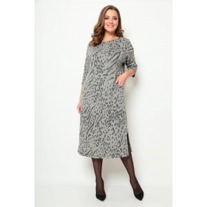 MICHEL-CHIC 2069 серый-принт Платье