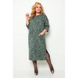 MICHEL-CHIC 2069 зеленый-принт Платье