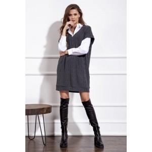 NOVA LINE 50121 серый Платье