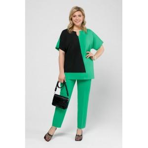 PRETTY 2007 Зеленое + черный/брюки зеленые Комплект